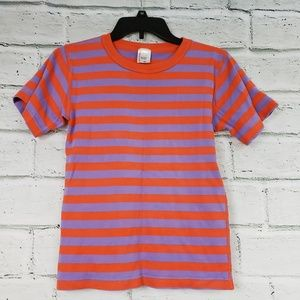 Hanna Andersson red purple striped tee 160 or 14